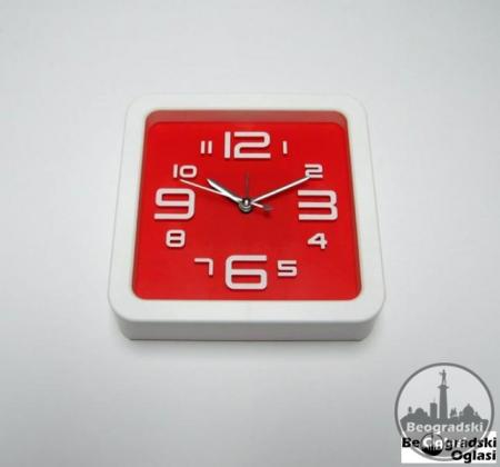 Zidni sat + budilnik CRVENI NOVO