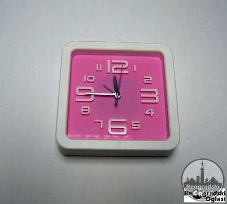 Zidni sat + budilnik ROZI NOVO
