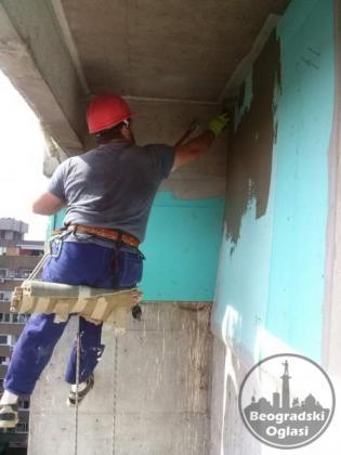 Građevinski radovi - alpinisticki pristup
