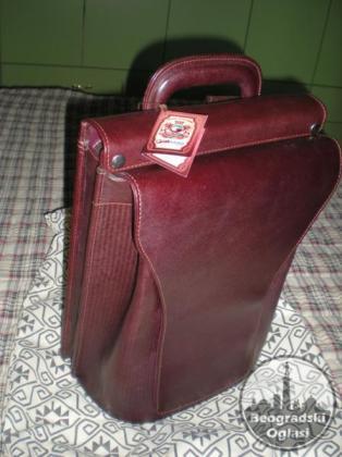 Kožna, muška laptop torba (ranac)