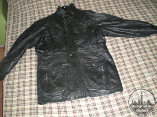Nošena muška kožna jakna
