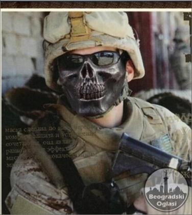 borbena i zastitna maska za lice za lovce i avanturiste
