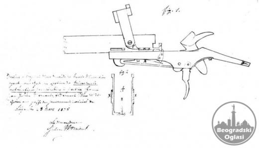 stara puska 19vek flobert 9 mm