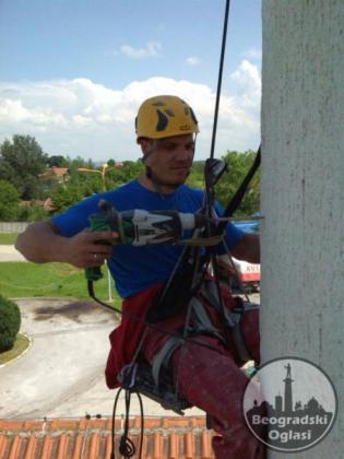 Visinski radovi, alpinisticki radovi, alpinista, radovi sa uzeta