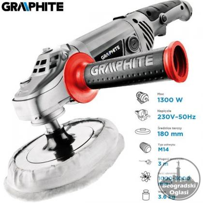 Polirka Graphite - Profi 1300W