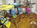 Ljuljaske kolica lutke sto i stolica