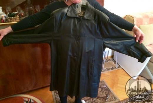 Nova kozna jakna- mantil