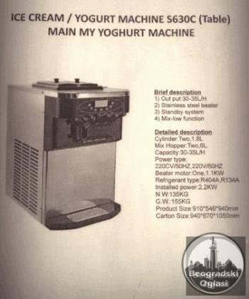 Msina za toceni sladoled - Soft ice aparat