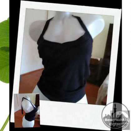Crna majica bez ledja S sl.8