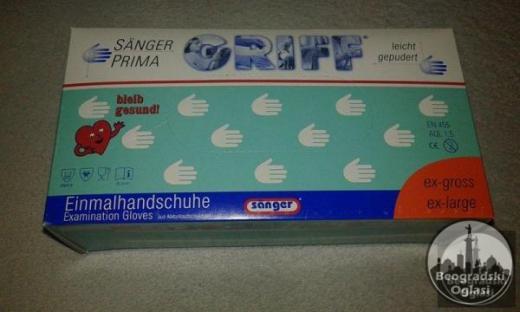 Hiruske rukavice Latex-bele pakovanje 100 komada