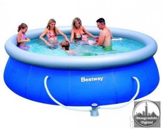 Nadzemni bazen na naduvavanje Bestway FastSet 305x76