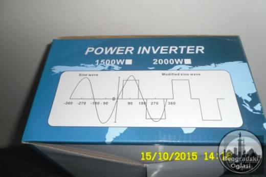 Inverter-Pretvarac napona12V-220V-3000W,KONTROLER-NOVO-NEKORISCENO