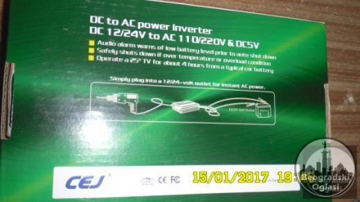 Inverter-Pretvarac napona12V-220W-1000W-NOVO-NEKORISCENO