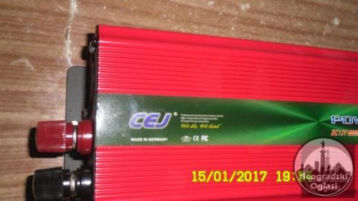 Inverter-Pretvarac napona12V-220W-2000W-NOVO-NEKORISCENO