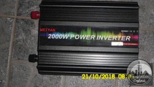 Inverter-Pretvarac napona24V-220V-2000W-NOVO-NEKORISCENO
