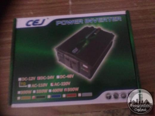 Inverter-Pretvarac napona24V-220W-500W-NOVO-NEKORISCENO