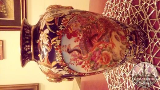 Kineska vaza i pepeljara od finog kineskog porcelana!
