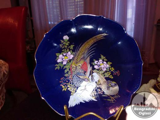 Mitsuko Japan - Tanjir od kobalta ručno oslikan! Prečnik 25cm!