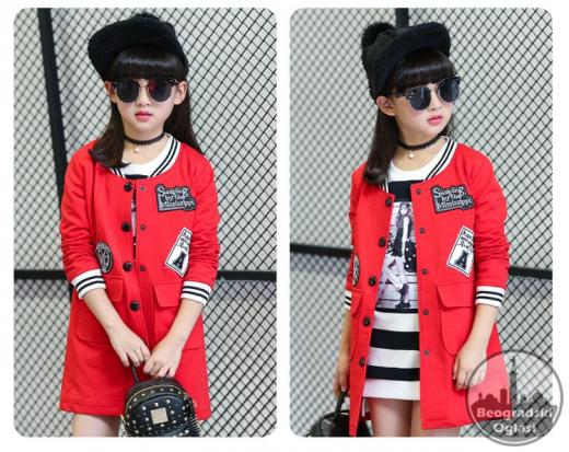 Sportsko elegantna jakna za devojcice od 4-14 god sl.A