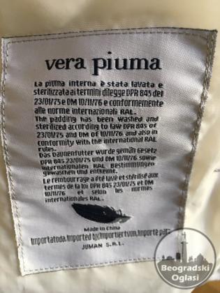 Sorbimo bela perjana jakna