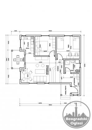 Montazna niskoenergetska kuca P- 76 m2