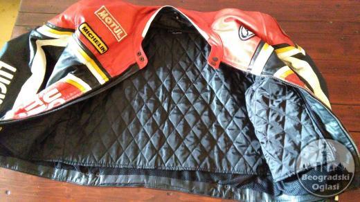 Kožna moto jakna Lucky Strike sa protektorima iz uvoza(kao nova)
