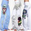 Pantalone sa printom Baggy Lobanja Rose Rose S-5XL