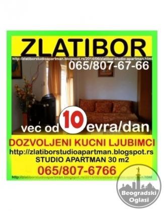 ZLATIBOR,apartman OD 10 evra/noc