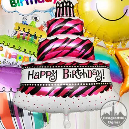 Balon od folije Ogromna torta Dekoracija
