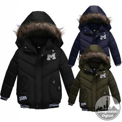 Deciji kaput-jakna sa krznom za 2,3,4 god