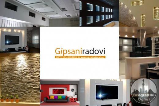Gipsarski radovi povoljno Beograd
