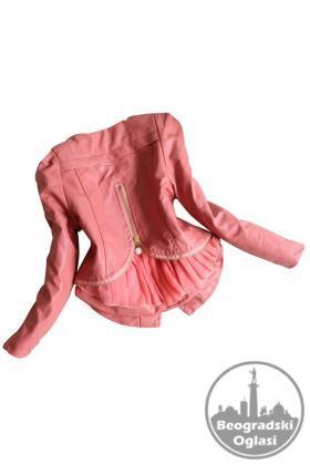 Kozna jakna za devojcice od 6-12 god