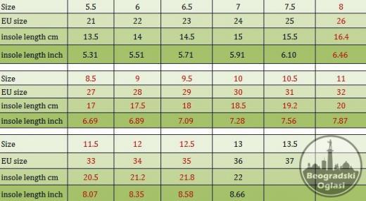 Patike za decake i devojcice brojeviod 26-35
