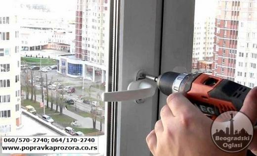 Popravka pvc prozora, Beograd - dolazak se ne naplacuje
