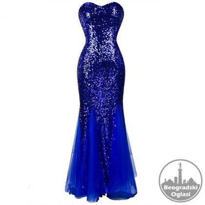 Svecana top duga haljina S,M,L,XL