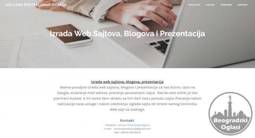 Izrada web sajtova, blogova, prezentacija