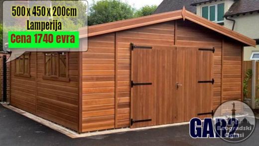 Montazna garaza GAR2 - 5m x 4.5m