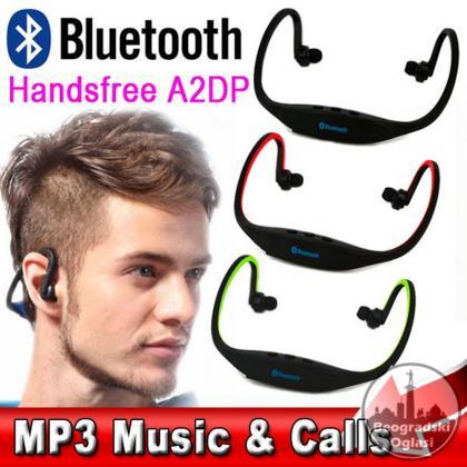 Bluetooth Slusalice sa Mikrofonom i SD Karticu
