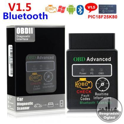 ELM327 OBD2 OBDII V1.5 Bluetooth Auto Dijagnostika