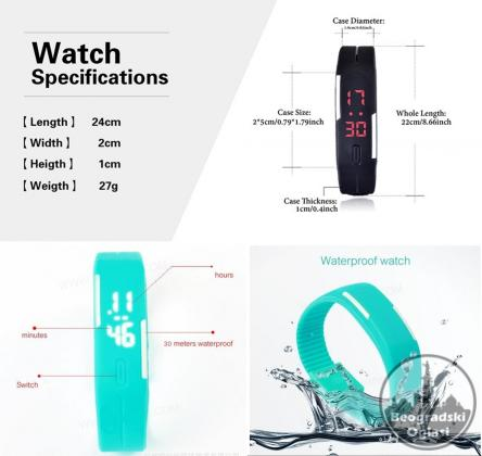 V1 -Silikonski LED Digitalni Sat Narukvica