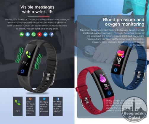 V5 GPS Fitnes Smart Narukvica / IP68 Vodootporna