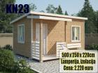 Stambeni – montazni kontejner KN23 – 5m x 2.5m + terasa 1m