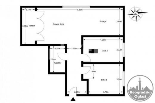 Veliki trosoban stan na dobroj lokaciji ID#94102