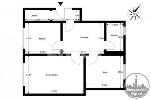 Polovina kuće sa garažom 68+20+25 podrum ID#73443