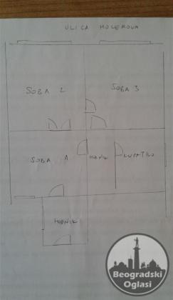 Molerova-vlasnik-stan pogodan za pp/ordinaciju