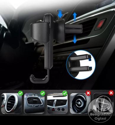 Auto držač telefon na Ventilaciji