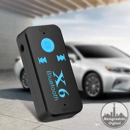 X6 Adapter Bluetooth Prijemnik Auto Car Aux Kit