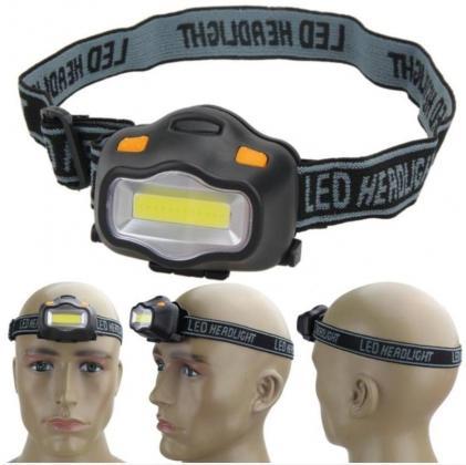 COB LED Svjetiljka sa podesivom trakom za glavu.
