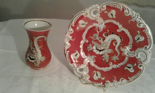 Wallendorf porcelan, vaza izuzetnog dizajna sa pozlatom