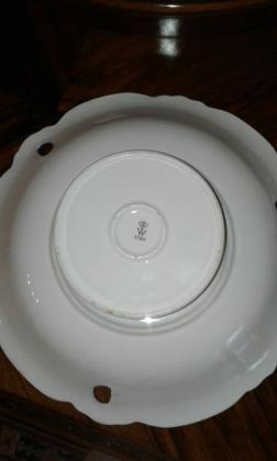 Wallendorf porcelanska činija - kobalt sa pozlatom